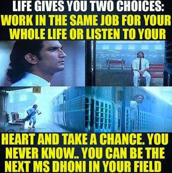 Ms Dhoni The Untold Story Http Ift Tt 1zz3e4d Dhoni Quotes Cricket Quotes Motivational Thoughts In Hindi