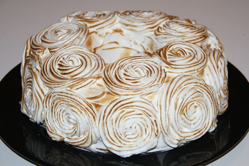 decoration gateau a la meringue