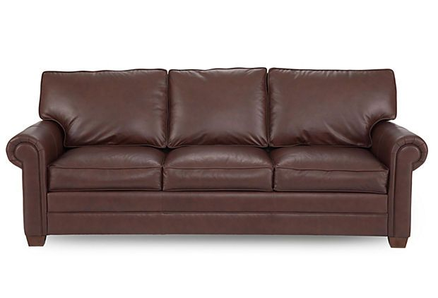 "Studio Collection Sofa, Russet on OneKingsLane.com. Love this sofa; it just says ""come talk to me"""