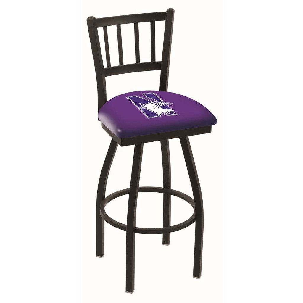 Northwestern Wildcats Jailhouse Swivel Bar Stool