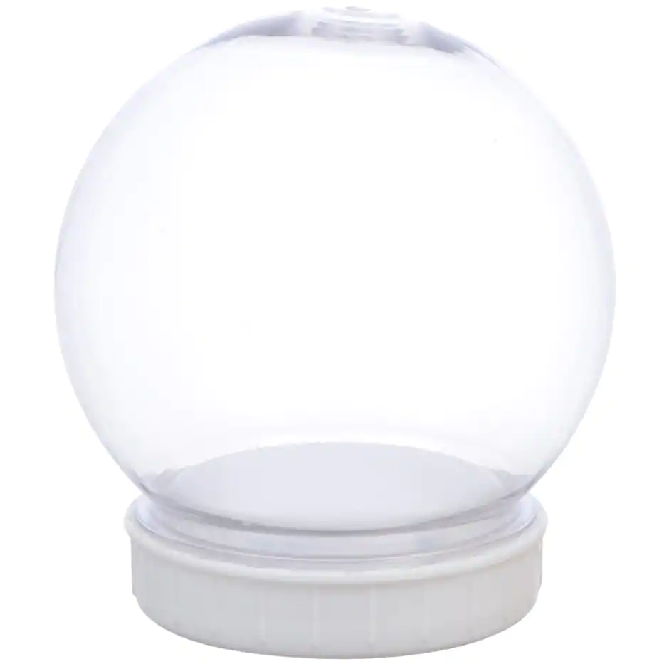 Plastic DIY Snow Globes, 4.25x4 in. Snow globe crafts