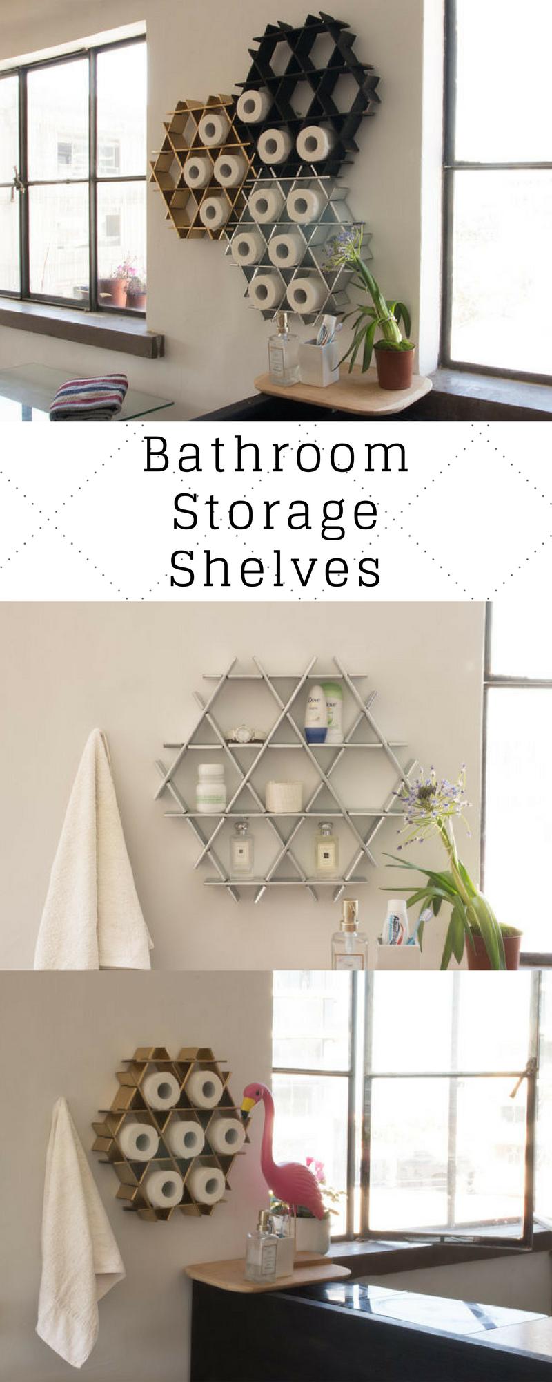 Bathroom Storage, Bathroom Shelf, Bathroom Organizer, Modern Shelves ...