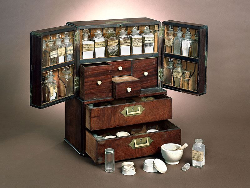Ship S Medicine Chest C 1800s Medicine Chest Miniature Medical Cabinet