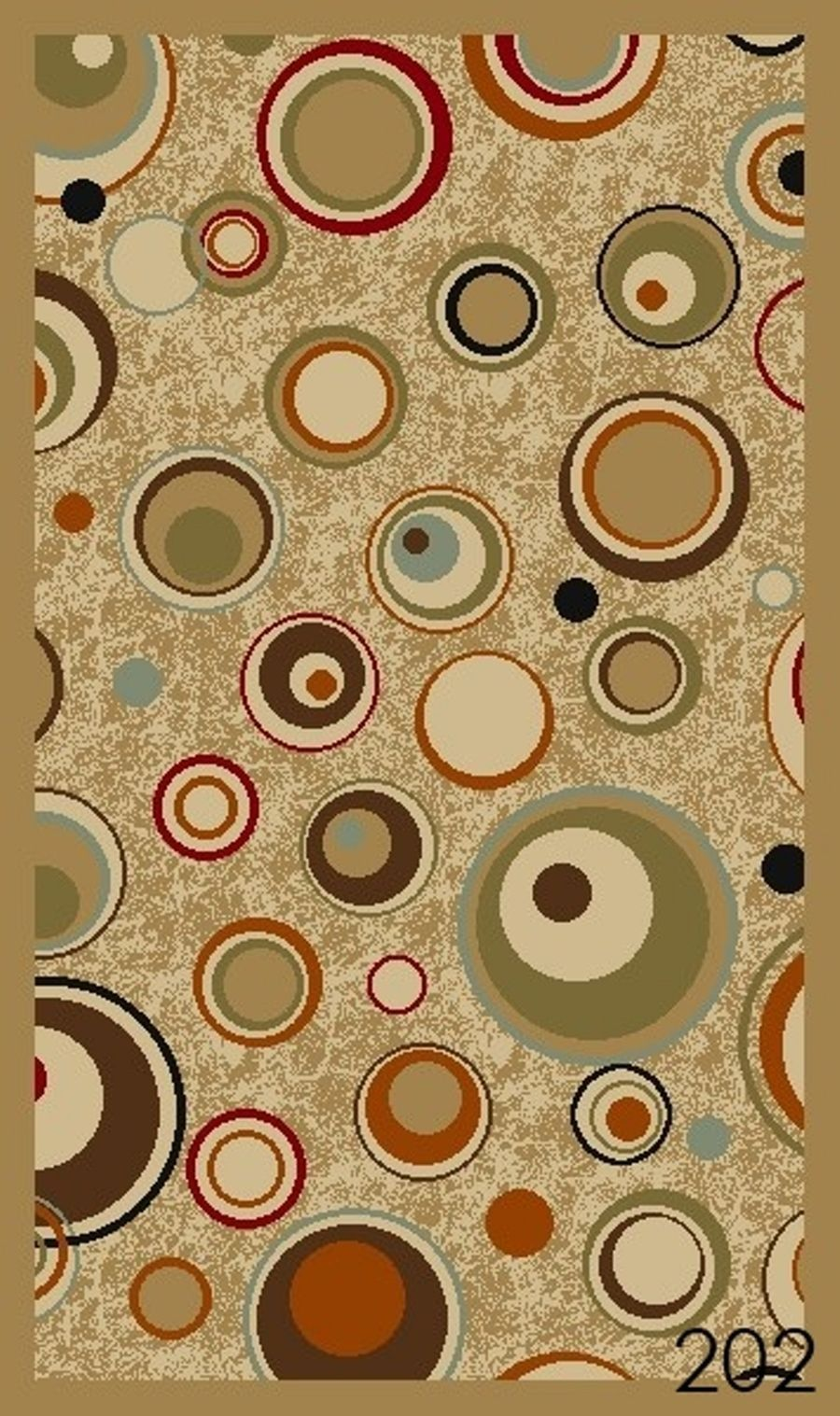 Area Rugs With Circle Design New Circles Ivory Modern Rubber Backed Durable Rug Carpet