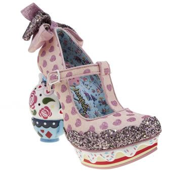 irregular choice pale pink alice my cup of tea womens high