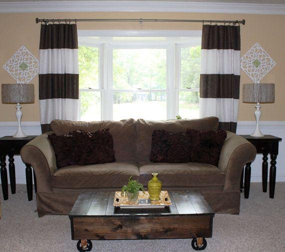 Room Custom Horizontal Striped Curtain