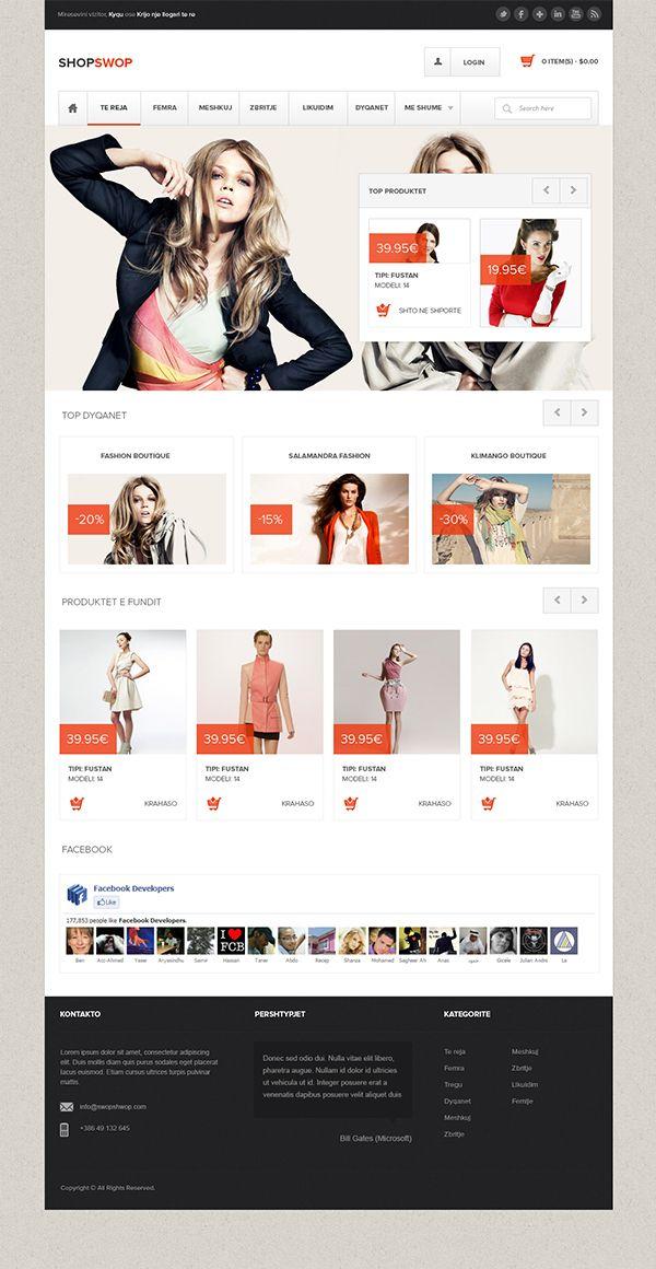 Shopswop Clothing Shop On Behance Ecommerce Infographic Shopping Outfit Behance Design