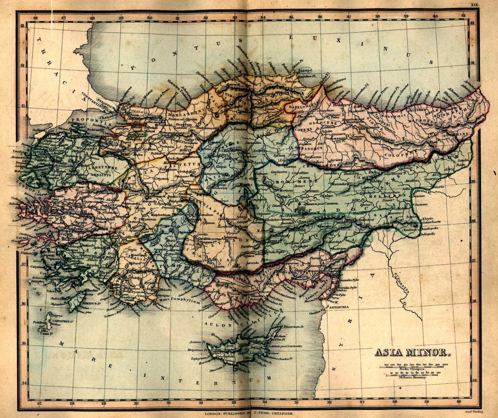 Map Of Asia In 700 Ad.Asia Minor Ancient Map 1849 Ancient Maps Asia Map Map Treasure