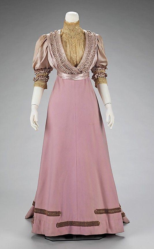Tarde traje de House of Paquin, 1906-08 Francia, DETALLE VESTIDO