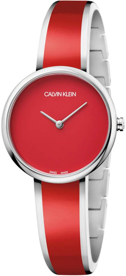 Photo of Calvin Klein Women's Seduce Stainless Steel & Red Resin Bangle Bracelet Watch 30mm & Reviews – All Fine Jewelry – Jewelry & Watches – Macy's