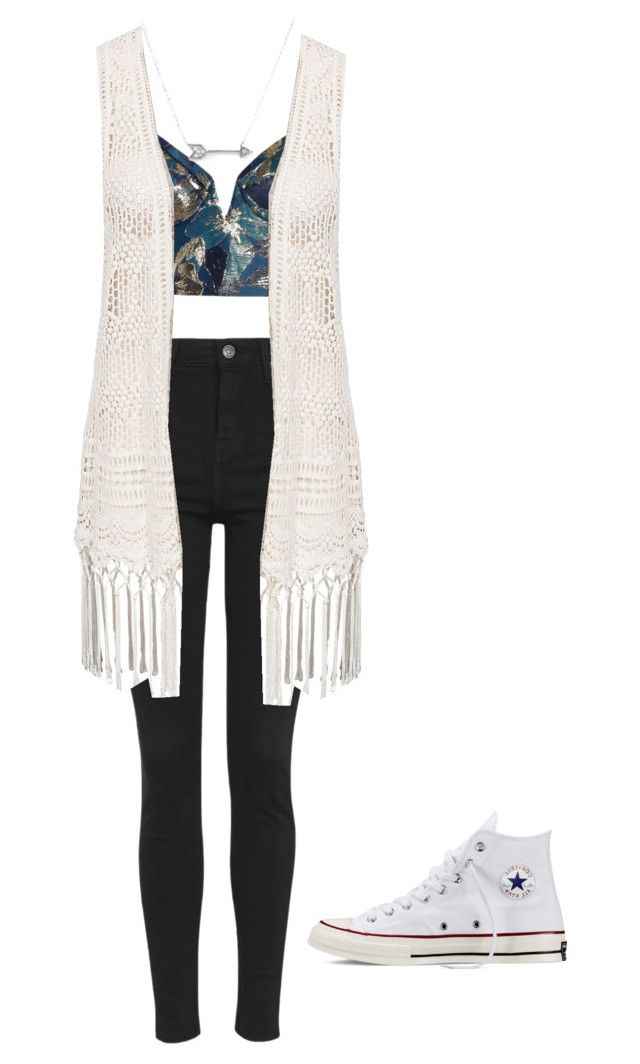 """Day at the mall"" by brianadunbar ❤ liked on Polyvore featuring Zimmermann, Topshop, New Look, Converse and Adina Reyter"