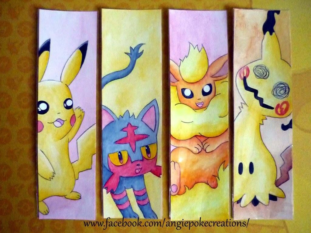 Marque Pages Pokemon Creation Dessin Fan Art Pikachu Flamiaou Pyroli Mimiqui