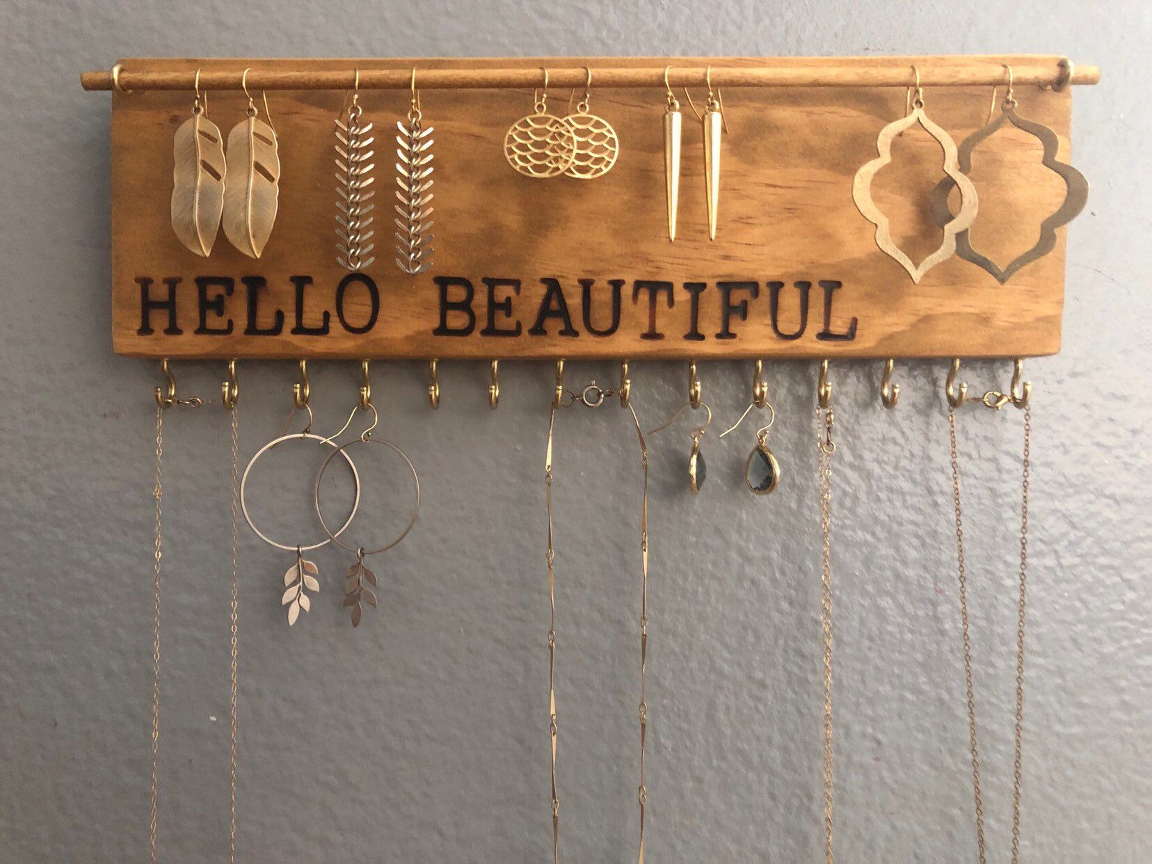 Jewelry Organizer, Mothers Day Gift, Jewelry Organizers, Jewelry Storage, Earring Holder, Necklace Holder, Jewelry Display, Gift for Her