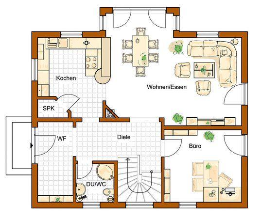 Grundriss haus modern mit erker  Kostenbewusstes Bauen, schöne Architektur, gelungene ...