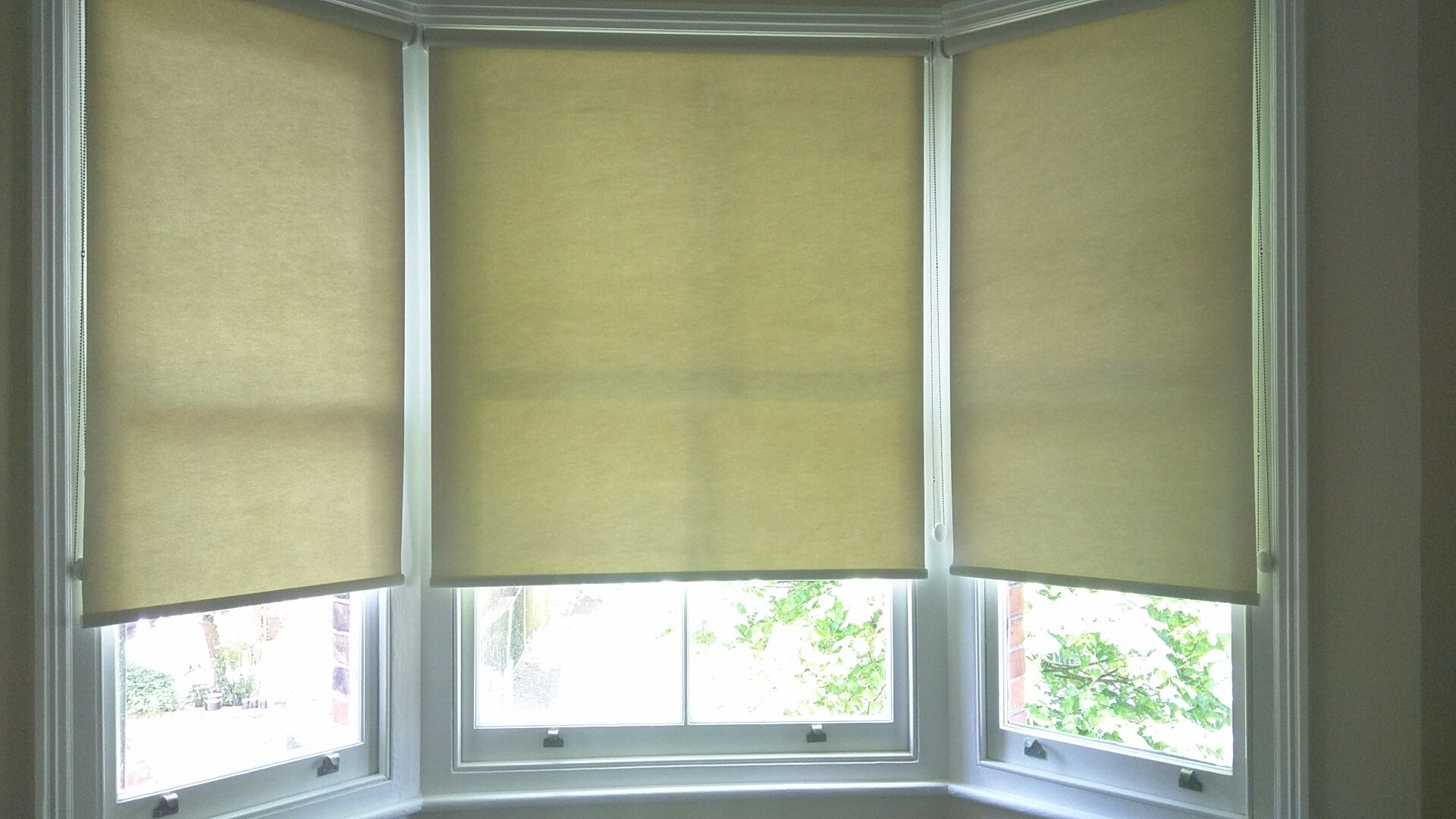 Thermal Roller Blinds In Parchment Colour Which We Fitted