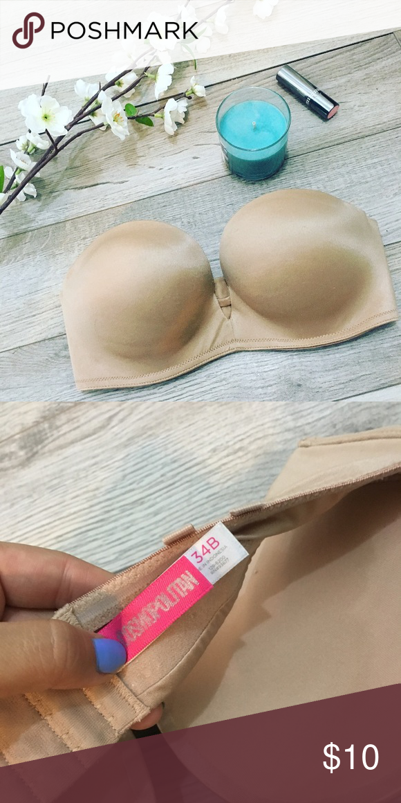 4f95315f6bb56 Cosmopolitan Nude Strapless Extreme Push Up 34B🌸 Cosmopolitan Nude  Strapless Extreme Push Up 34B Worn once. Has a lot of padding and a low dip  in front.