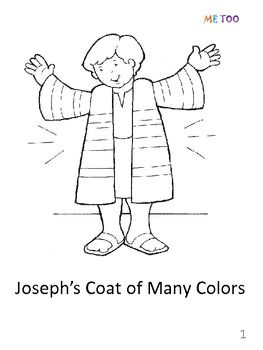 Josephs Coat Coloring Page Genesis Joseph Pinterest Sunday