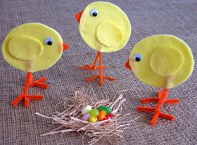 Easter Chicks made of felt... so cute!