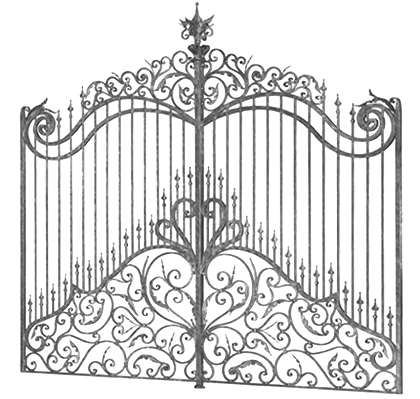 Fer forge ferforge pinterest gates - Marquise en fer forge ...