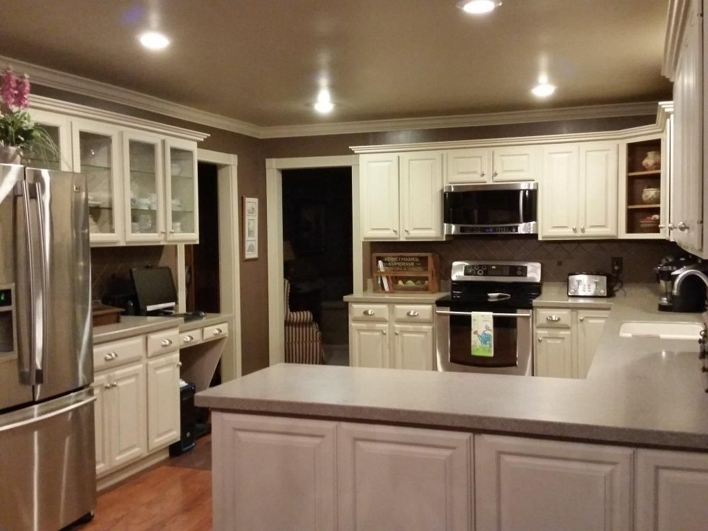 Olde century colors is the perfect ingredient for this for Best latex paint for kitchen cabinets