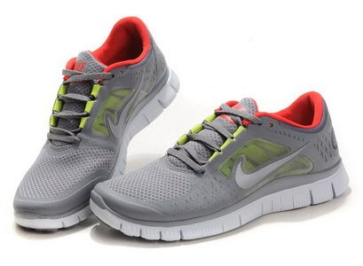 reputable site 26da6 79114 Nike Free Run +3 Mens Womens Grey Refelct Silver Red  Grey  Womens  Sneakers