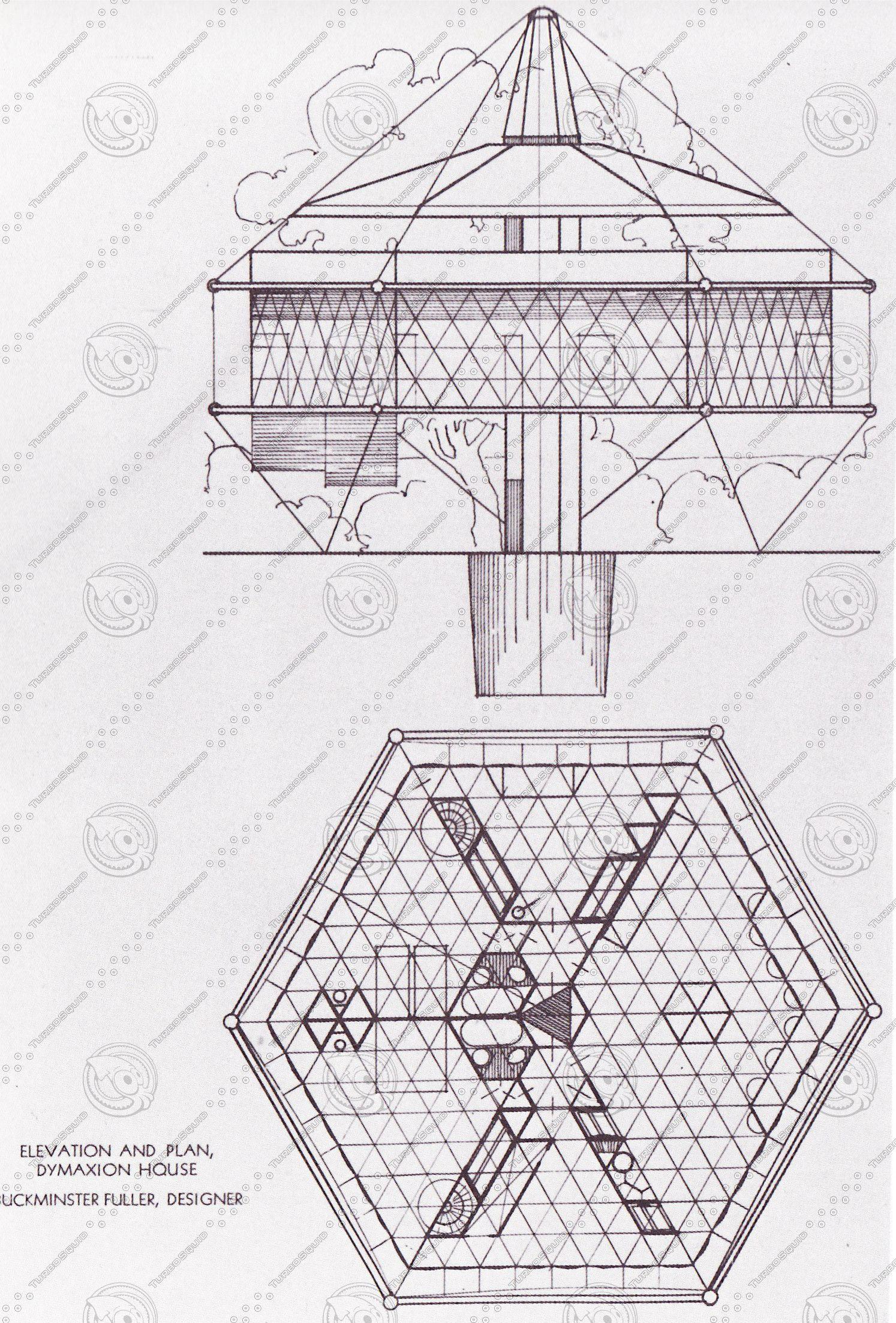 3d Buckminster Fuller Dymaxion House Dymaxion House