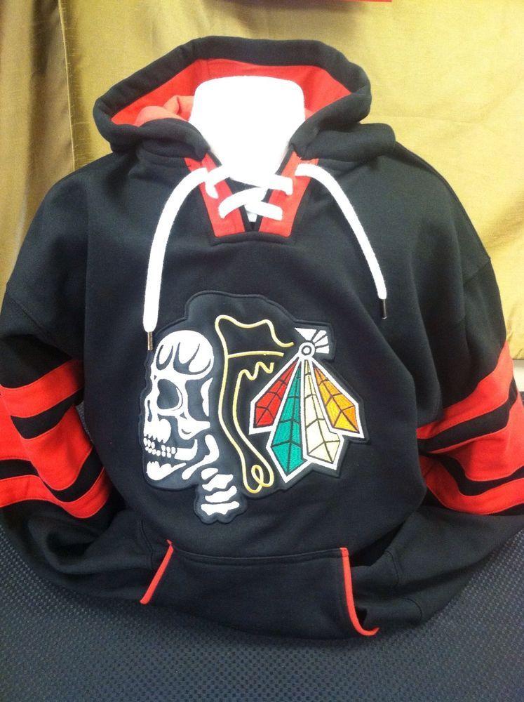 meet f6911 4d606 chicago blackhawks skull hoodie