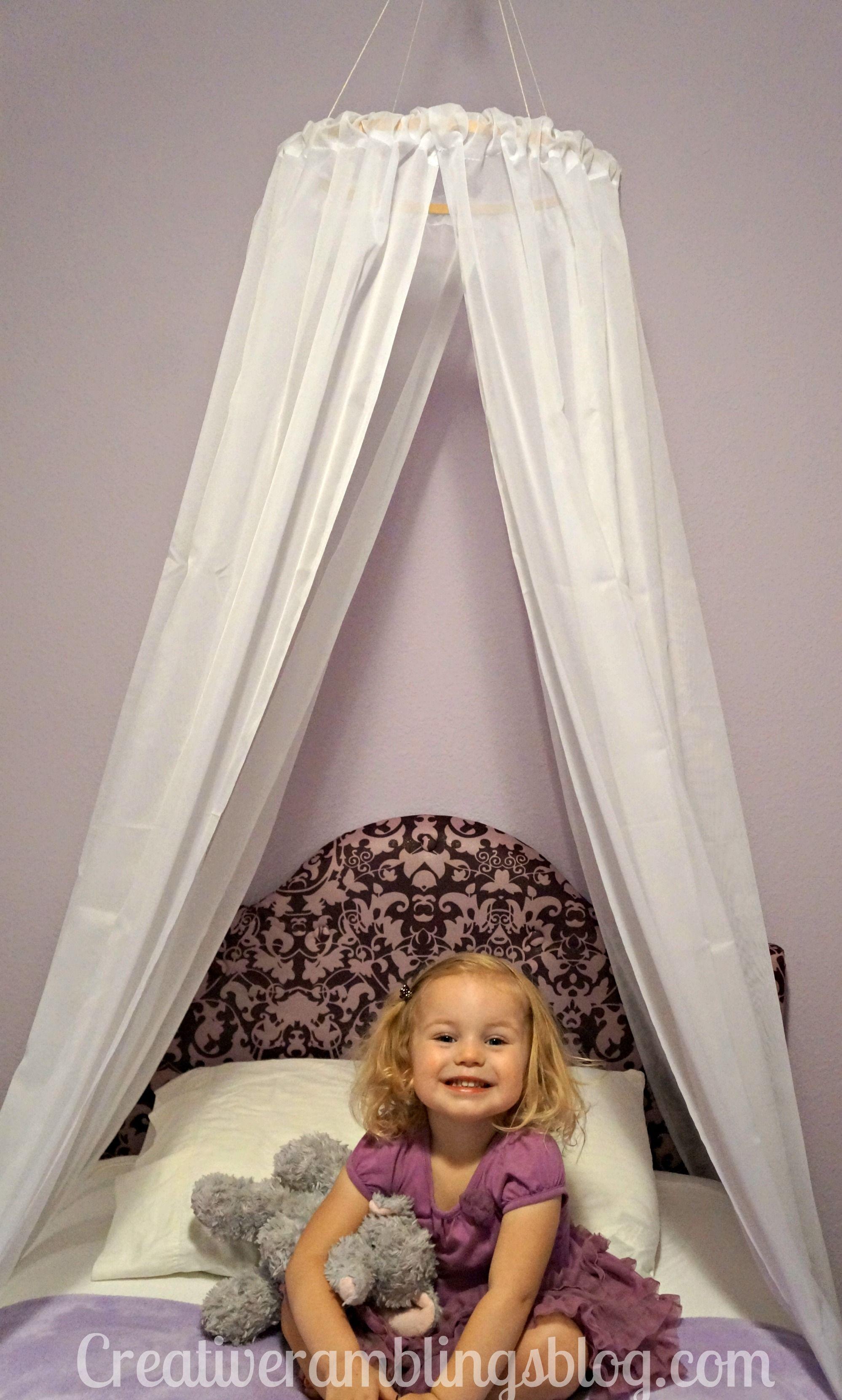 Easy Diy Princess Canopy Creative Ramblings Toddler Canopy Bed