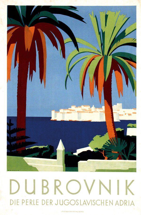 Vintage Travel Poster - Dubrovnik - Yugoslavia.