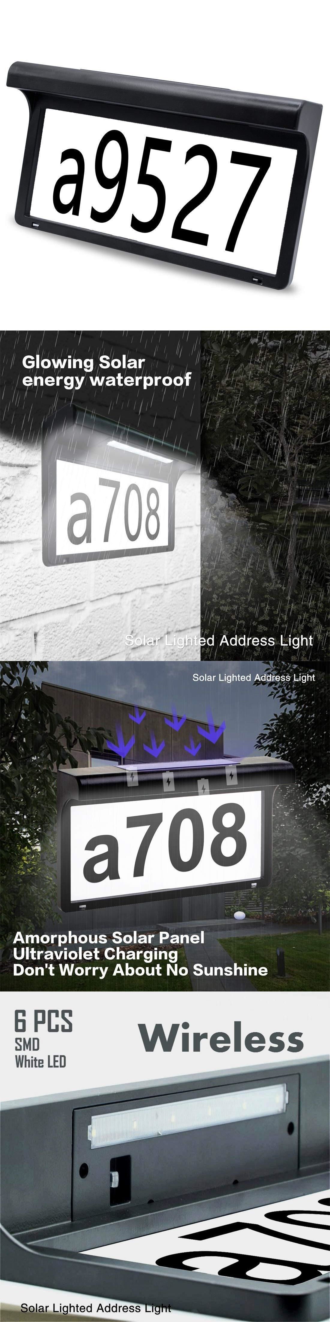 5635c76ee50 Garden Plaques and Signs 75592  Solar Lighted Address Sign Custom Mailbox House  Numbers Plaque Waterproof -  BUY IT NOW ONLY   31.67 on  eBay  garden ...
