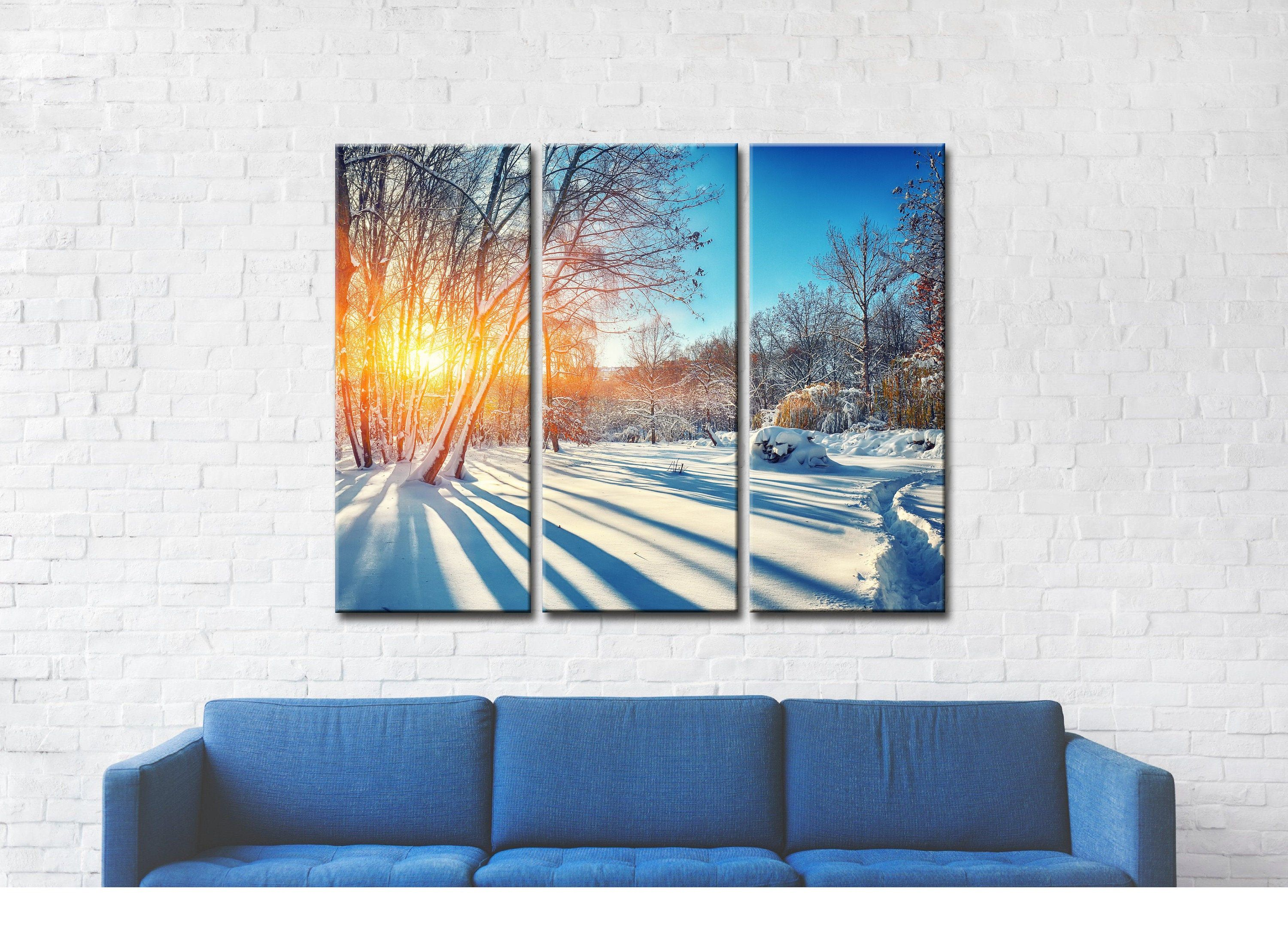 Snow And Sun Printed Canvas Canvas Art Wall Art Canvas Wall