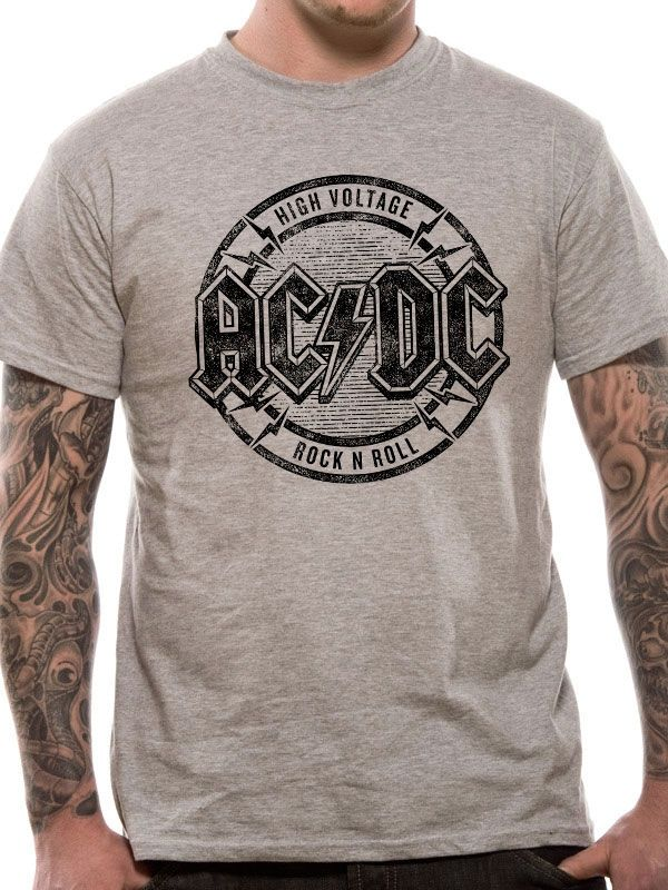 Roll De High N Acdc Rock Camisetas 2019 Voltage En Camiseta qgxZnax