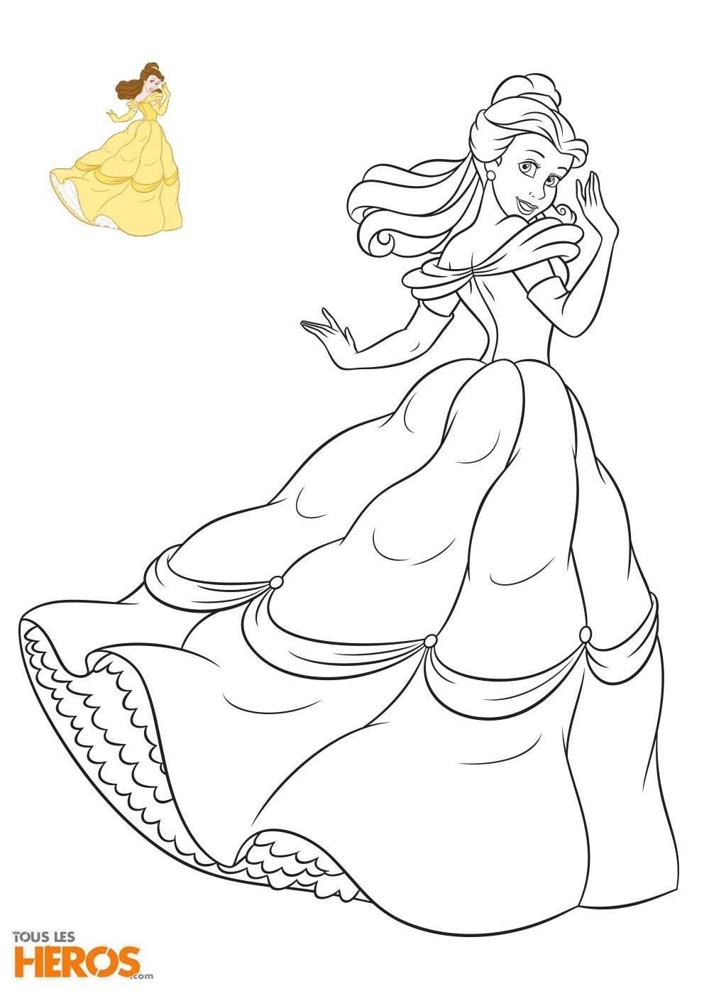 Princesse Belle Et La Bete Coloriage En 2020 Coloriage A Imprimer Princesse Coloriage La Belle Et La Bete Coloriage