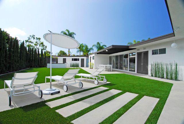 Entzuckend Modernen Hinterhof Ideen Für Kunstsvolle Landschaft Im Garten