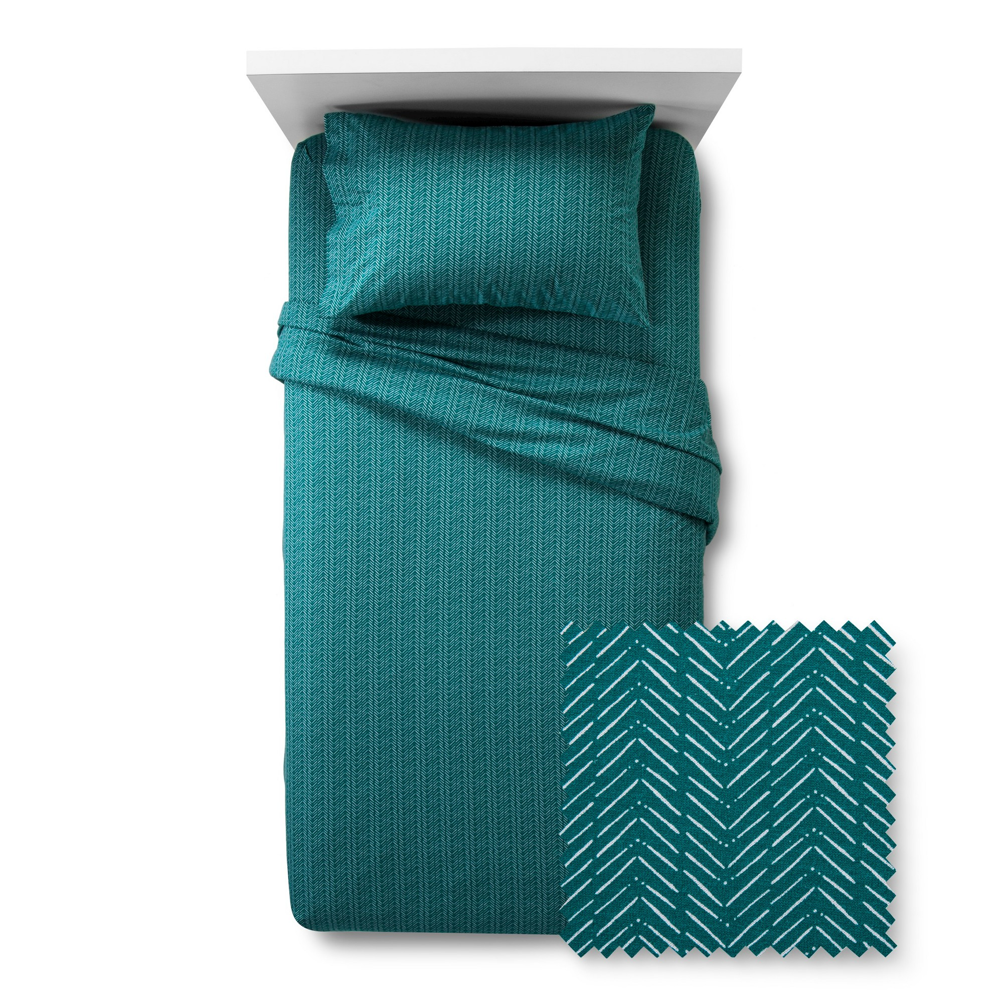 Jersey sheet set chevron twin xl turquoise room