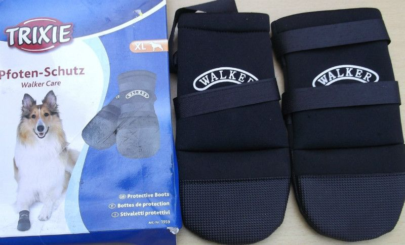 Trixie Walker Care Protective Boots Size Extra Large Black Dog Pet