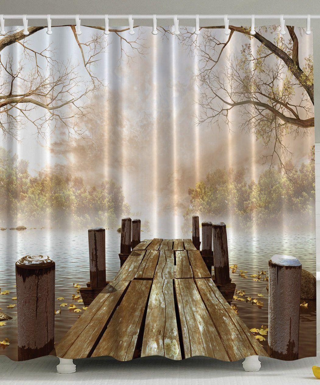 Country Lake Apartments: Amazon.com: Ocean Decor Fall Wooden Bridge Seasons Mother