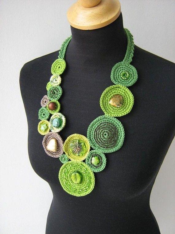 Crochet necklace - orient   アクセサリー   Pinterest   Orient ...