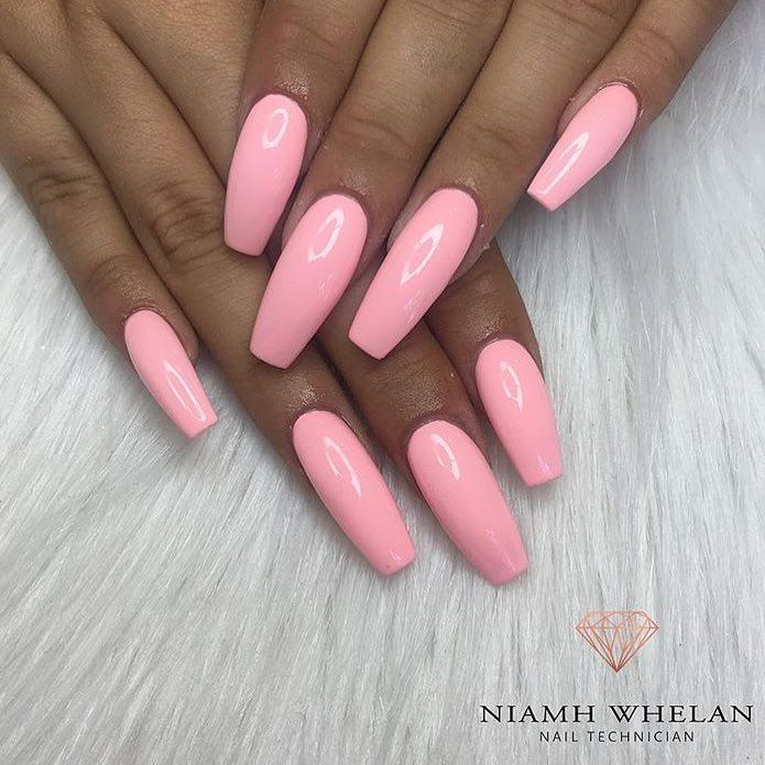 120 Best Coffin Nails Ideas That Suit Everyone Pink Acrylic Nails Baby Pink Nails Trendy Nails