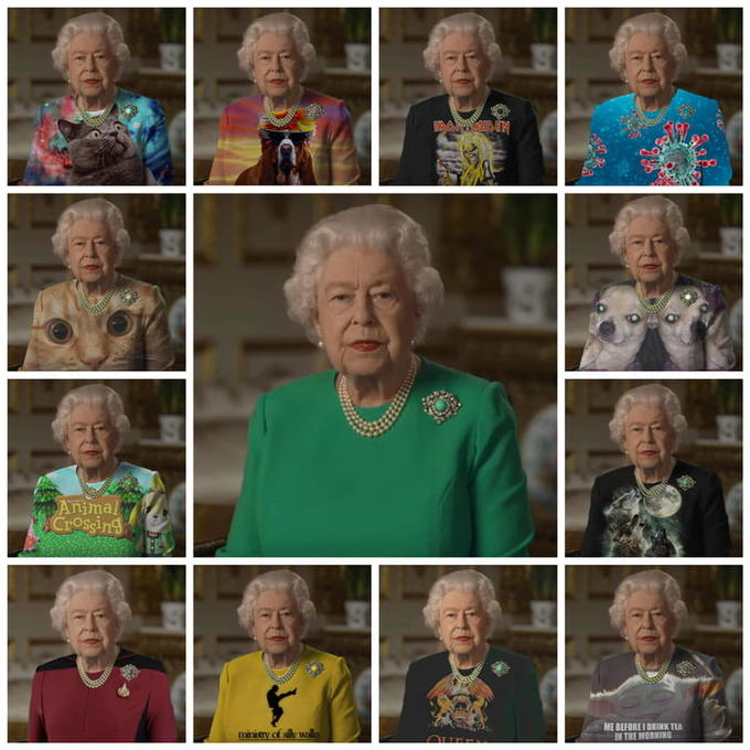The Queen S Outfit Used As A Green Screen Queen Elizabeth Ii Queen Elizabeth Memes Greenscreen Queen Outfit