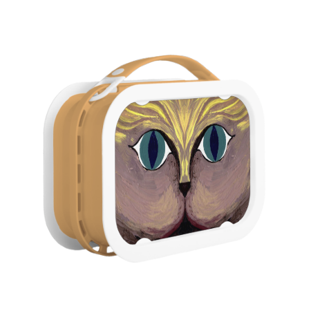 MEAN KITTY ~ LUNCH BOX  Original paintings can be found for sale through my Amazon store at: http://www.amazon.com/shops/artmatrix JMO Zazzle designs: http://www.zazzle.com/thewhippingpost?rf=238063263784323237