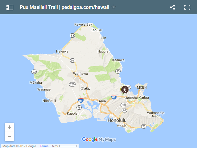 Puu Maelieli Trail Directions Map Pictures Kaneohe Hikes