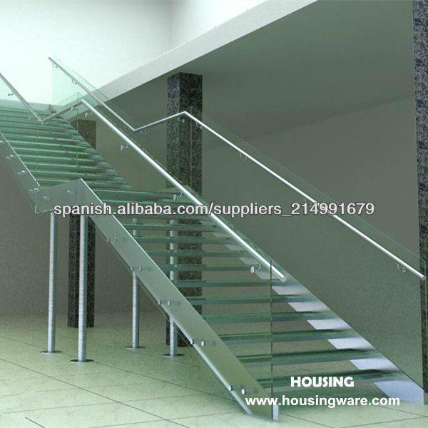 Escaleras de cristal templado modulari up tl barandilla - Escaleras de acero y cristal ...