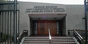 Vernon Leon H Washington Jr Memorial Branch Library Los Angeles Public Library Vernon Library Public Library