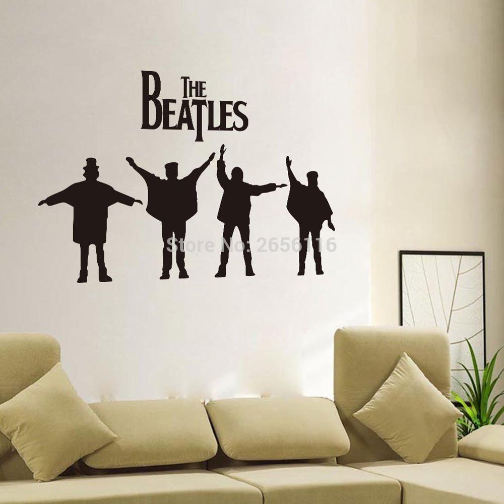 The Beatles Wall Art Mural Famous Band Singer Rock Music Wallpaper Vinyl Decal For Living