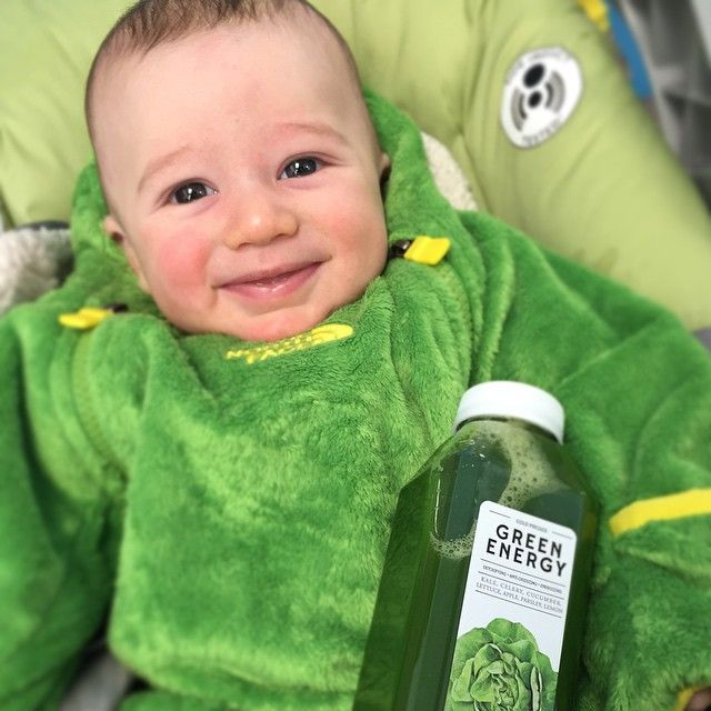 Team @totalcleanseca's newest member has truly taken to our whole green and fresh philosophy!