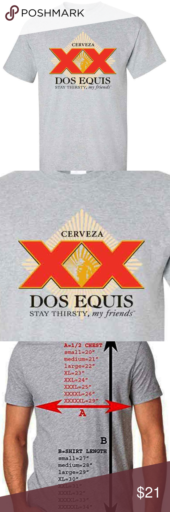 Cerveza Dos Equis Stay Thirsty Men S Gray T Shirt Colorful Shirts Shirts Clothes Design