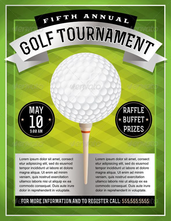 Golf Tournament Flyer  Font Logo Fonts And Logos