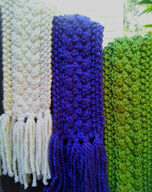 Cozy Cable Knit Scarf. Simple weekender project for those who know ...
