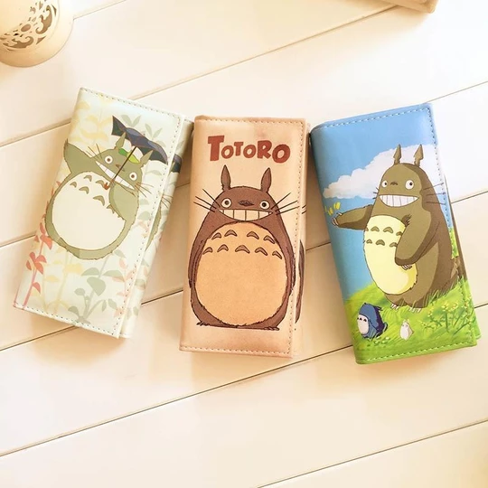1pc Cute Totoro Ladies Long Wallets for Women High Quality Leather Clutchintothea #walletsforwomen